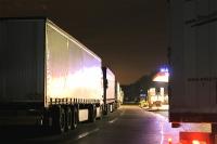 Parkplatzsituation für LKWs auf der Rastanlage Mahlberg Ost